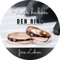 Rund | Wir haben den Ring Plakat | Werbeschild für Juwelier | Rundformat