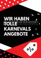 Karnevalsangebote Werbeschild | Plakat auch in DIN A 3