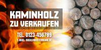 2:1 | Kaminholz zu verkaufen Poster | Werbeplakat drucken | 2 zu 1 Format