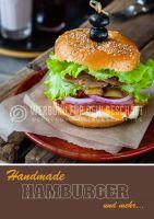 Hamburger Werbeplakate drucken | Werbebanner für Handmade Hamburger