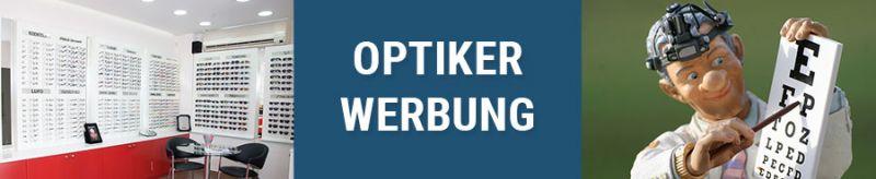 Banner für Optiker