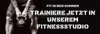 3:1 | Fit in den Sommer Poster | Werbebanner für Fitnessstudios | 3 zu 1 Format