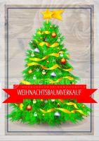 Weihnachtsbaumverkauf Plakat