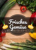 Frisches Gemüse Plakat | Werbeplakat Gemüse