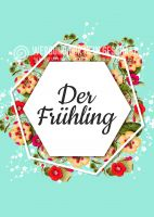 Der Frühling Plakat | Werbeplakat für den Frühling