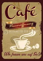 Cafe Neueröffnung - Wir freuen uns auf Sie - Poster | Werbeposter für Cafes
