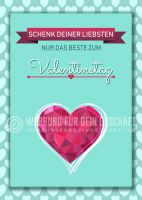Nur das Beste zum Valentinstag Werbebanner | Plakat online drucken