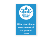Soap kills Corona Aufkleber | PVC-Plakat