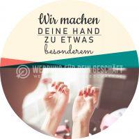 Rund | Deine Hand etwas besonderes Plakat | Werbeplakat für Nageldesign | Rundformat