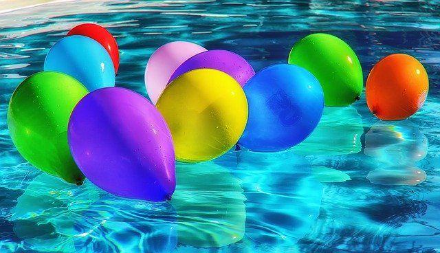 Luftballons zur Dekoration