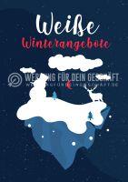 Weiße Winterangebote Poster | Plakate online drucken