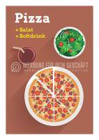 Pizza + Salat + Softdrink Werbung | Plakat auch in DIN A 0
