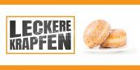 2:1 | Leckere Krapfen Poster | Werbebanner für Bäckerei | 2 zu 1 Format