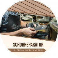 Rund | Schuhreparatur Werbebanner | Werbeposter für Plakatständer | Rundformat
