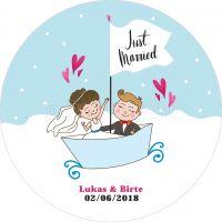 Rund | Just Married Poster | Werbebanner | Rundformat