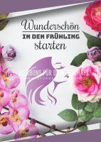 Wunderschön in den Frühling Werbeposter   Plakat für Kosmetikstudio