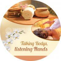 Rund | Talking Bodys Poster | Werbeposter für Massagen | Rundformat