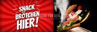 3:1 | Snack Brötchen Poster | Werbetafel für Bäckerei | 3 zu 1 Format