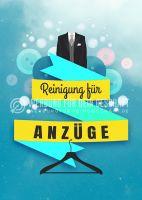 Reinigung für Anzüge Plakat | Werbung für Plakatständer