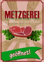 Metzgerei Plakat | Werbetafel für Metzgereien