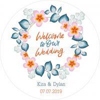 Rund | Welcome Wedding Poster | Plakat online drucken | Rundformat