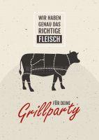 Das richtige Fleisch Poster | Werbebanner für Fleischerei