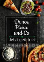 Döner Pizza und Co Poster | Werbeposter für Imbisse