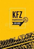 KFZ Inspektionen Plakat | Werbeschild für Autohaus