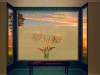 Sichtschutzfolie   Fensterfolie kunstvolle Pusteblumen   Pusteblumenoptik