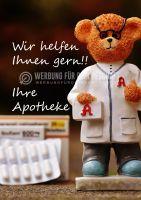 Wir helfen Ihnen gern!! Poster | Apotheken Werbe-Poster