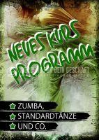 Neues Kurs Programm Poster | Plakatwerbung für Tanzschulen