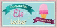 2:1   Hausgemachtes Eis Poster   Werbebanner für Eisdielen   2 zu 1 Format