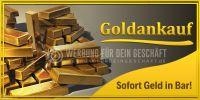 2:1 | Goldankauf Poster | Sofort Geld in Bar! | 2 zu 1 Format