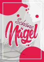 Nagelstudio Plakat | Schöne Nägel