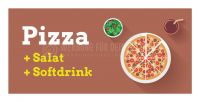2:1 | Pizza + Salat + Softdrink Werbung | Plakat auch in DIN A 0 | 2 zu 1 Format