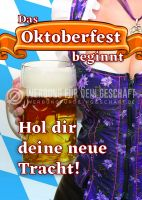 Oktoberfest beginnt Werbebanner | Werbung für dein Trachtengeschäft