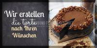 2:1 | Die Torte Ihrer Wünsche Poster | Werbebanner für Bäckerei | 2 zu 1 Format