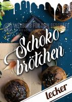 Schokobrötchen Plakat | Werbeplakat für Bäckerei