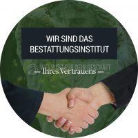 Rund | Bestattungsinstitut Ihres Vertrauens Werbetafel | Poster kaufen | Rundformat