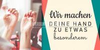 2:1 | Deine Hand etwas besonderes Plakat | Werbeplakat für Nageldesign | 2 zu 1 Format