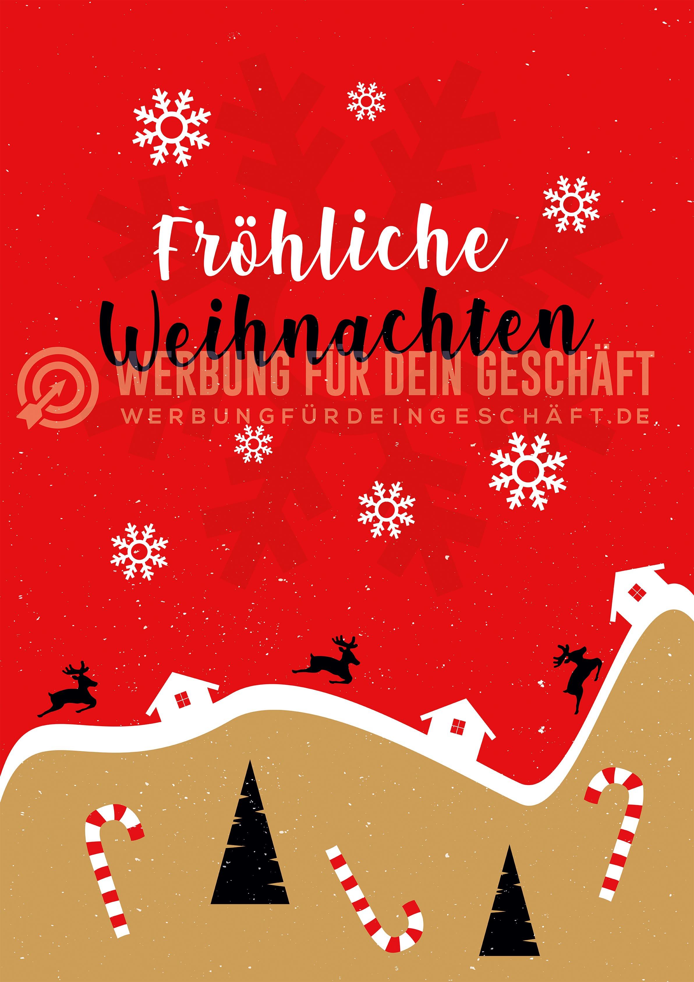 Weihnachtsgrüße Geschäft.Fröhliche Weihnachten Plakatwerbung Poster Kaufen