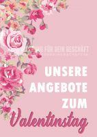 Angebote zum Valentinstag Poster | Werbetafel zum Valentinstag