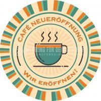 Rund | Cafe Neueröffnung Poster | Werbetafel für Cafes | Rundformat