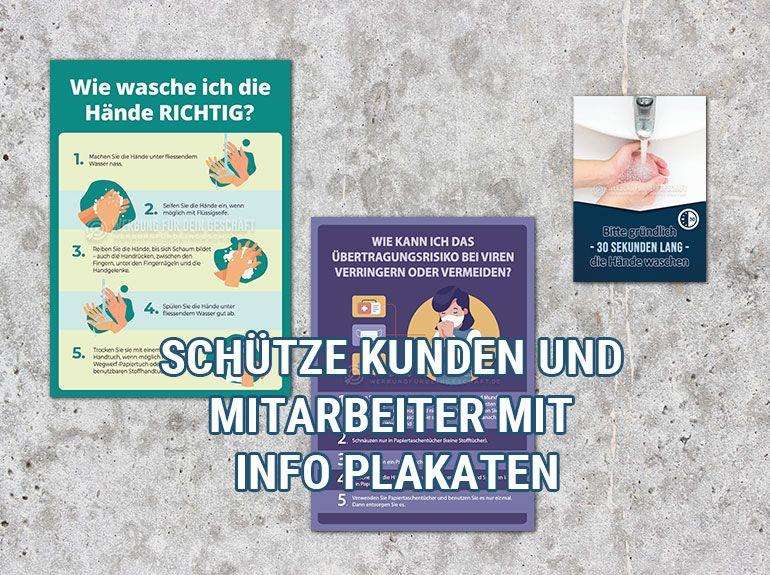 Gesundheit und Hygiene - Plakate mit Hygienevorschriften