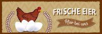 3:1 | Frische Eier Poster | Werbeschild für Eierverkäufer | 3 zu 1 Format