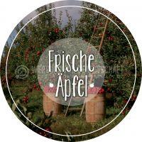 Rund | Frische Äpfel Plakat | Werbetafel für Äpfel | Rundformat