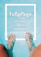 Fußpflege jetzt einen Termin vereinbaren Plakat | Poster kaufen