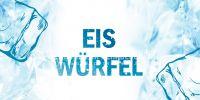 2:1 | Eis Würfel Poster | Werbeposter für Geschäfte | 2 zu 1 Format
