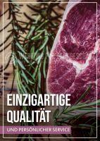 Einzigartige Qualität Plakat | Werbebanner für Metzgerei