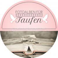 Rund | Fotoalben für die Taufe Werbeposter | Plakat auch in DIN A 1 | Rundformat